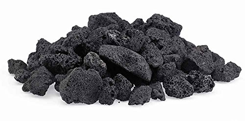 Black Lava Rocks for Fire Pit, 20 Pounds. Naturally Formed Volcanic Rock Mined in The USA. Varies in Size from 1/2