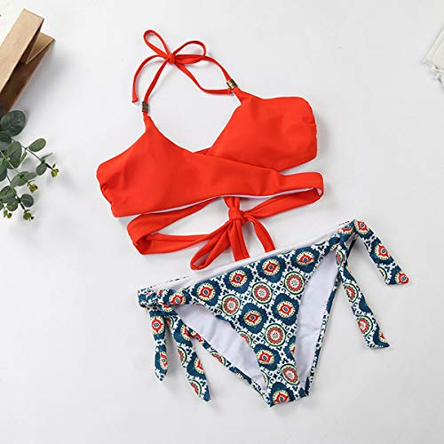 Maillots Sexy Neck Gather Small De taille Bikini S Thather Split Pour Fresh Bain Femmes Bei 54974bikinis Hanging yi Thong qxfEw0n4C