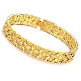 Opk Jewelry Luxury Gold Plated Men's Bracelets Chain Link Bangle Gold Bracelet