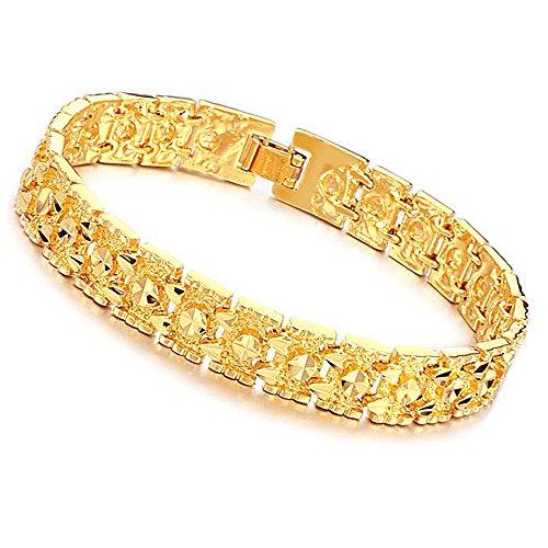 Opk Jewelry Luxury Gold Plated Men's Bracelets Chain Link Bangle Gold Bracelet 8.27