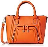 New Look Womens Curved Zipped Mini Wendy Top Handle Bag 82/Bright Orange