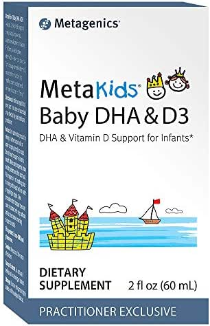 Metagenics MetaKids® Baby DHA & D3 2 fl oz (60 mL), DHA & Vitamin D Support for Infants, 60 Servings - Non-GMO and Gluten Free