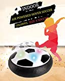 FANSIDI Hover Soccer Ball, Kids Toys Electric Kids Training Soccer Disc in Size 4 with Foam Bumpers and Colorful LED Light for Indoor Games, Air Power Soccer Toy - Best Boy and Girl Gifts Choices