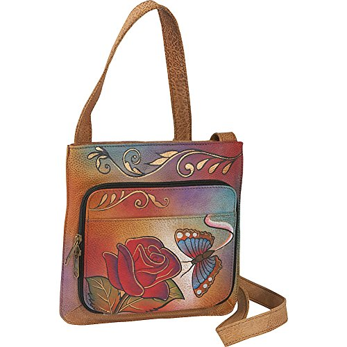 anuschka-handpainted-leather-7011-rb-slim-shoulder-organizer-rose-butterfly-one-size