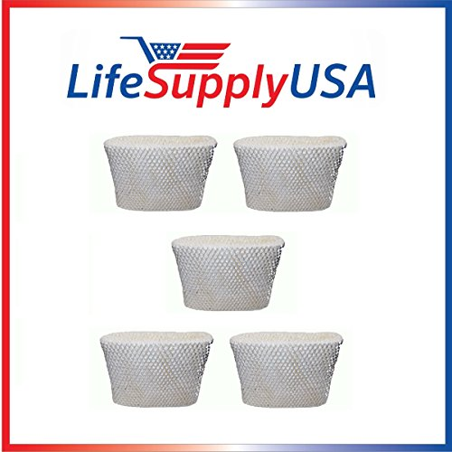 LifeSupplyUSA 5PK Replacement Humidifier Wick Filter C for H