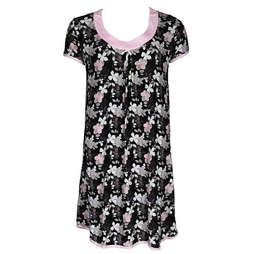 Rene Rofe Bow - Rene Rofe Women's Knit Sleep Shirt Night Gown, Medium, Multi