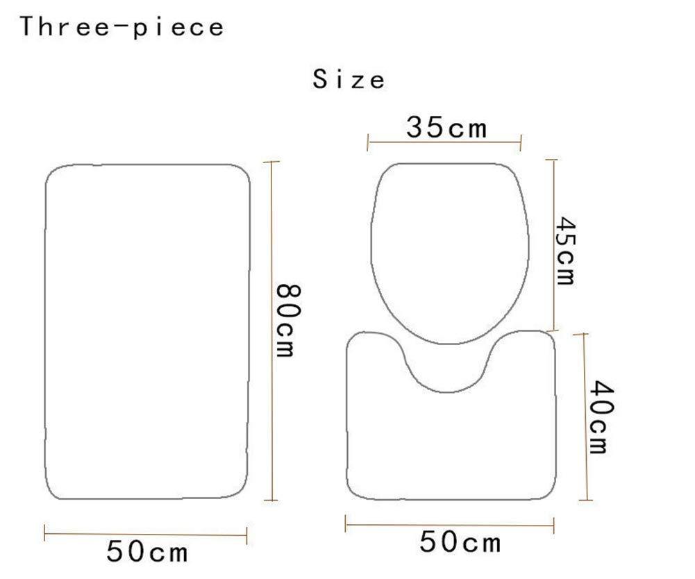 Amazon.com: Yujiayi Bathroom Rug Soft Microfiber Bath Mat ...