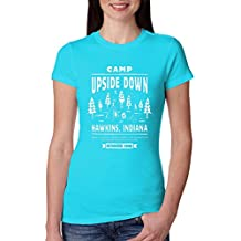 Camp Upside Down | Strange Inspired | Womens Pop Culture Junior Fit Tee Graphic T-Shirt