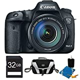 Canon EOS 7D Mark II Digital SLR Camera w/ 18-135mm IS STM Lens 32GB Bundle Inc. camera with 18-135 lens, 32GB Secure Digital SD Memory Card, Compact Deluxe Gadget Bag&3pc. Lens Cleaning Kit.