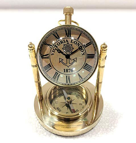 Antiques Antique Nautical Brass Military Compass Vintage Collectible Decor Neither Too Hard Nor Too Soft