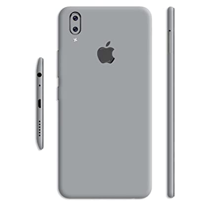 best website 58c63 2a0d2 VcareGadGets iPhone Style with Apple Logo Cut Silver Gloss Skin for Vivo V9