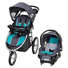 Explore the outdoors in style together with your little one in the Baby Trend Pathway 35 Travel System in Optic Teal. The jogger is designed for optimal safety and convenience with features such as a 5-point safety harness with harness covers...