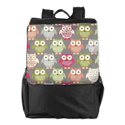 HSVCUY Strap Adjustable Outdoors And Storage Dayback Women Camping Owl Colorful School Personalized Backpack Men For Travel Shoulder wgxTwvH
