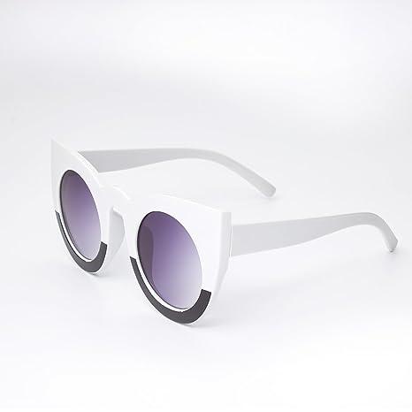 TL-Sunglasses Occhio di gatto Occhiali da sole donne di occhiali da sole per il Signore di vintage di estate femminile Round Stile tonalità UV400,BJ5148 C3