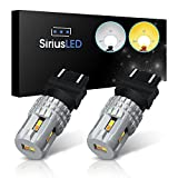 1994 mustang gt fog lights - SiriusLED Ultra Compact Extremely Bright 2835 Chip Full Aluminum Dual Color White Yellow Switchback LED Fog DRL Turn Signal Tail Light Bulb Size 3157 4157NA Pack of 2