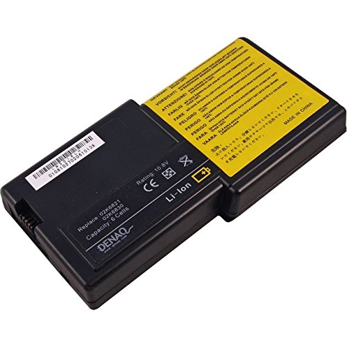 DENAQ 6-Cell 58Whr/5400mAh Li-Ion Laptop Battery for IBM THINKPAD R30, IBM THINKPAD R31; Part: - Ion Li Laptop Battery 5400mah