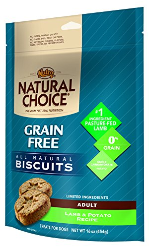 Nutro NATURAL CHOICE Grain Free Adult Dog Biscuits Lamb and Potato Recipe - 16 oz. (454 g)