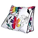 Lumbar Pillow Cailin, Triangle Cushion, Home Pillow, Office Pillow, Plant Flower (Size : 451540CM)