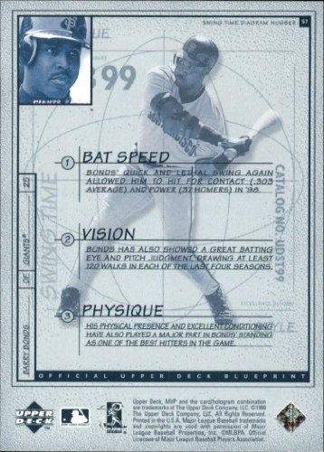 Amazon.com: 1999 Upper Deck MVP Swing Time #S7 Barry Bonds: Collectibles & Fine Art