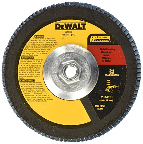 DEWALT DW8376 7-Inch by 5/8-Inch-11 40g Type 27 HP Flap Disc
