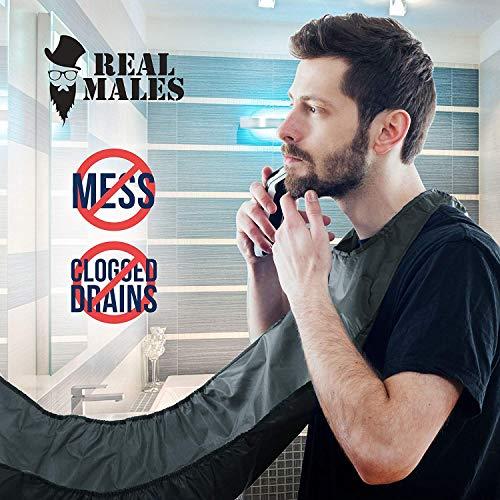 Beard Cape Apron for Shaving - NEW MODEL 2017 – Beard Shaving Bib Catcher for Easy Clean Up & a Clog-Free Drain – Grooming Cape Gift Ideas for Bearded Men