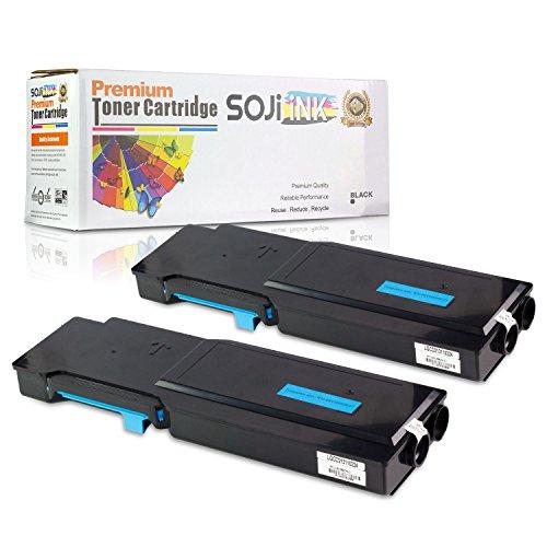 2PK Cyan - SOJIINK Compatible Dell C2660DN/2665 593-BBBT C High Yield Toner Cartridges for Dell C2660dn & C2665dnf Printers (002 Premium Toner Cartridge)