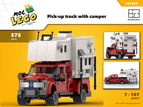 Pick-up truck with camper (Instruction Only): MOC LEGO
