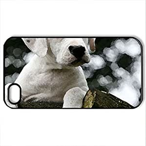 Argentine Puppy - Case Cover for iPhone 4 and 4s (Dogs Series, Watercolor style, Black) by icecream design