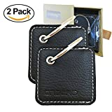 [2 Pack] Orzero Case For Tile Mate Finder with Keychain Stylish and Protected from Scratch Wet Dirty (Tile Finder Not Included) - Black