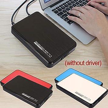 Outil Gratuit pour 2.5Inch 7mm 9.5mm 12.5mm HDD SSD 6TB Sandisk Toshiba  /Noir Haihuic Bo/îtier de bo/îtier de Disque Dur Externe USB 3.0 vers SATA Seagate