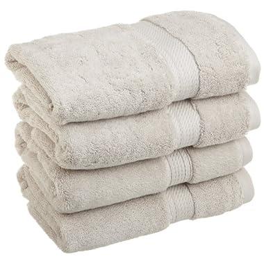 Superior 900 Gram Egyptian Cotton 4-Piece Hand Towel Set, Stone