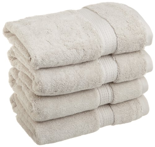 Superior 900 GSM Luxury Bathroom Hand Towels, Made of 100% Premium Long-Staple Combed Cotton, Set of 4 Hotel & Spa Quality Hand Towels - Stone, 20 x 30 each