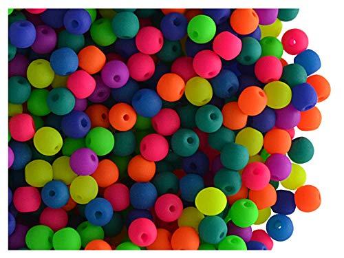 160 pcs Czech Glass Round Pressed Beads Estrela NEON (UV Active) Mix 3 mm Czech Pressed Glass Round Beads