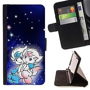 Momo Phone Case / Flip Funda de Cuero Case Cover - Lindo Pares de la fantasía - Samsung Galaxy S6 Active G890A