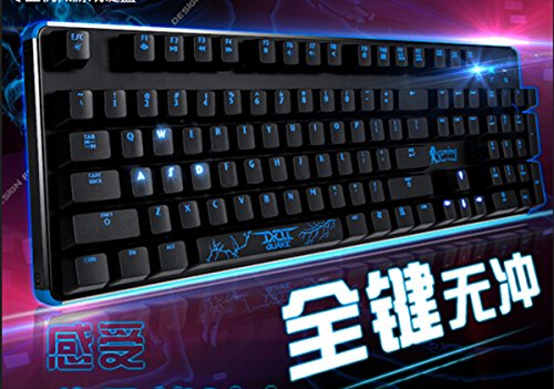 Beteran Genuis Thor Hammer 87 Keys 8 Key LED Backlit Ergonomics Multimedia Waterproof Professional E-Sports Gaming Computer PC Laptop USB Wired Steel Keyboard with CHERRY MX BlACK Switches For CF ()