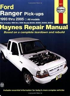 haynes repair manual ford ranger pick ups 1993 thru 2005 all rh amazon com 2004 ford ranger haynes manual haynes ford ranger repair manual