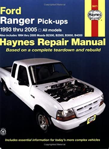 ford ranger pick ups 1993 2005 haynes repair manual chilton rh amazon com 1993 ford ranger parts manual 1993 ford ranger parts manual