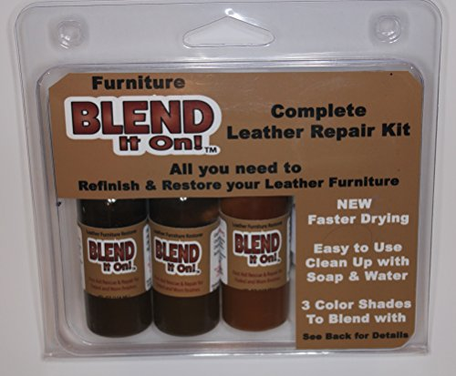 Blend It On Complete MAX 4 Shade Leather Repair & Refinish Kit / The Easiest Way To Fix All Your Leather Goods (Full Beach)