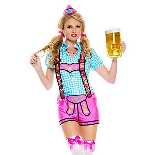 Lingerie For Women Sexy Lingerie Maid Outfit Maid Uniform Nurse Uniform Cosplay Beer Festival Outfit Beerfest Performance Oktoberfest Costume Bodysuits,XXL]()