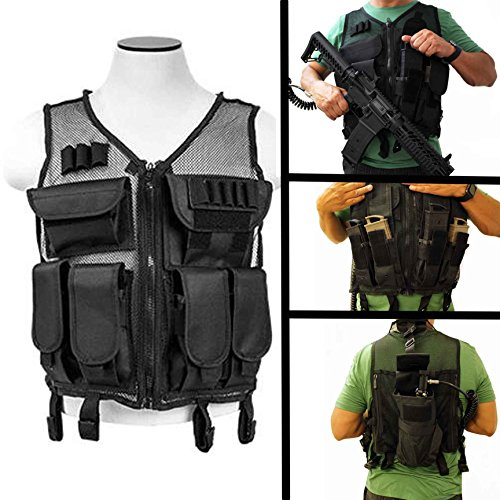 TRINITY SUPPLY Paintball mesh vest with mag pouch for tippmann tmc accessories. by TRINITY SUPPLY