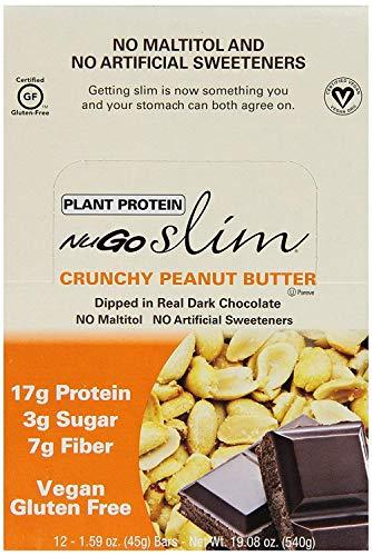 Nugo, Bar Box Slim Crunchy Peanut Butter, 12 Count, 1.59 Ounce