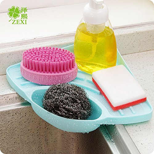 GreenSun(TM) 2016 Hot Sale Nordic Fashion Candy Color Multifuction Useful Kitchen Rack Tank Cleaning Sponge Drainboard Bathroom Soap Holder