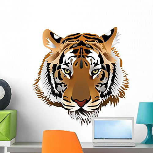 (Wallmonkeys Tiger Head Wall Decal Peel and Stick Graphic WM111903 (24 in H x 23 in W))
