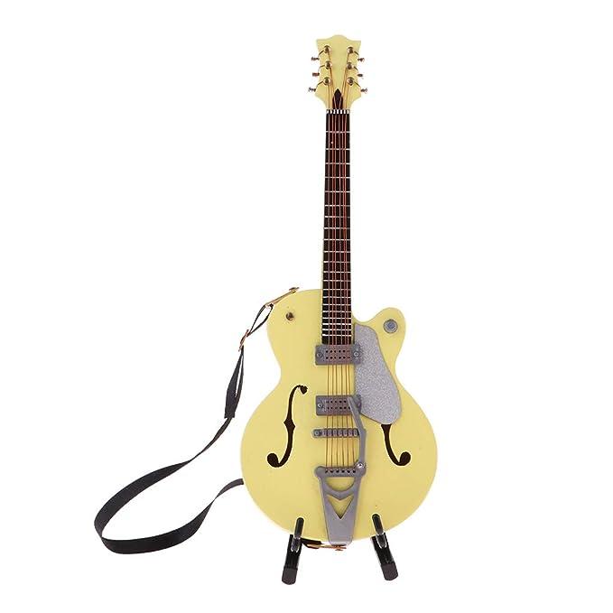 Amazon.es: P Prettyia Modelo Guitarras Miniaturas de Madera ...
