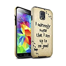 STUFF4 Matte Tough Shock Proof Phone Case for Samsung Galaxy S5/SV / Marauders Map Design / School Of Magic Collection