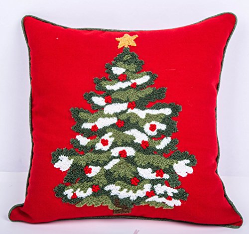 Lil Piggy Christmas Tree Throw Pillow Cushion Covers for Sofa/Couch/Bed, 18