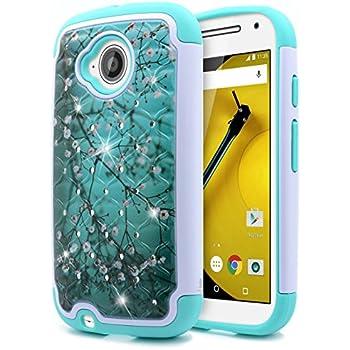 cheaper 58662 57d60 Amazon.com: Motorola Moto E 4G LTE (2nd generation) Case, [ Storm ...
