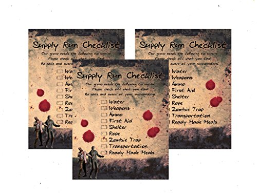 Zombie Party Supplies and Decorations (Scavenger Hunt)