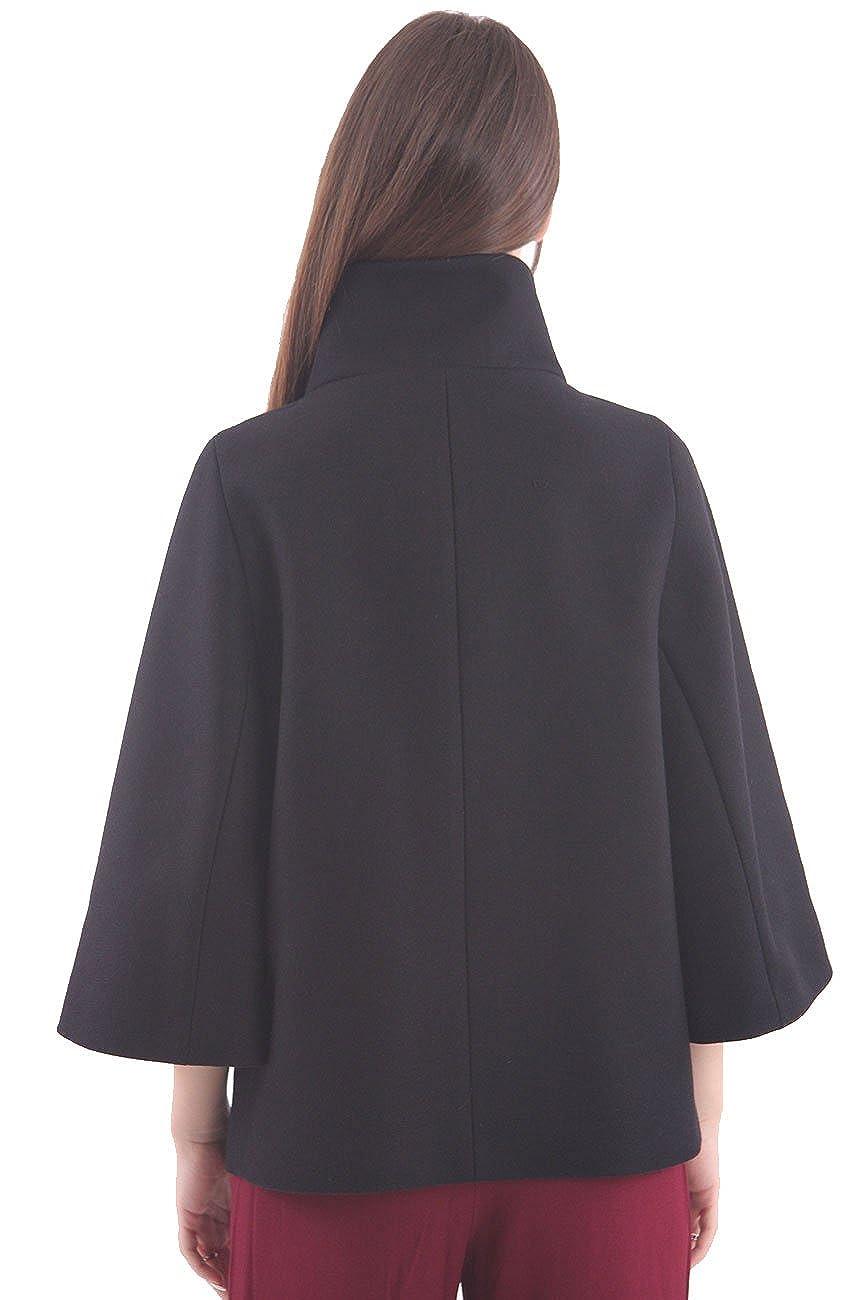 Fay Cappa Over in Lana Nera, Donna.: Amazon.it: Abbigliamento