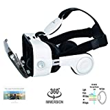 Christmas Gift! VR Headset; 3D Glasses Anti-Blue-Light Lenses; 120° FOV; phone answering button; Virtual Reality Glasses VR Goggles Fit For all iOs and Android 4.0-6.2 inch Smartphone